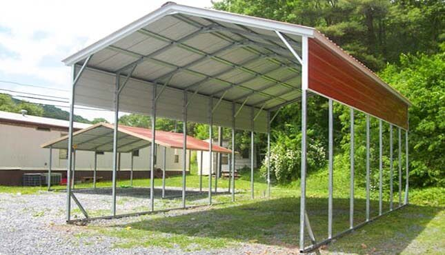 Metal Carports - 100+ Carport Styles, Steel Carport Kits ... on narrow lot house plans with garage, narrow house plan with pantry, ranch house plans with carport, ranch style home with carport, narrow house plan with courtyard, narrow craftsman house plans,