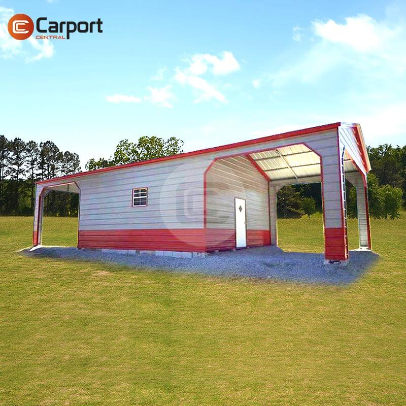 20×30 Utility Carport - Side-view