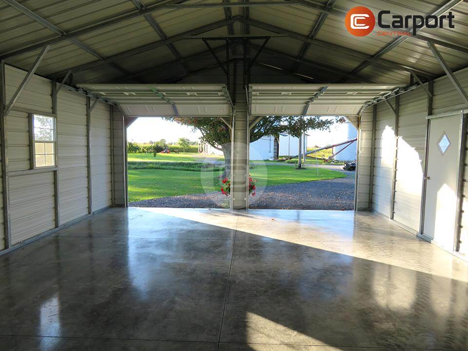 Inside View - 22×30 Two Car Garage