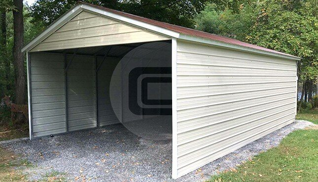 18x30-three-sided carport-side-view