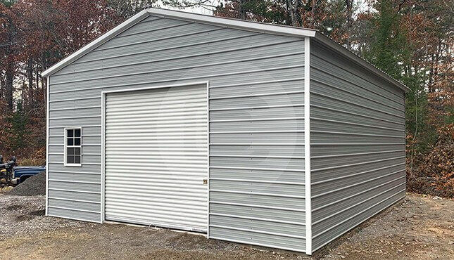 24x30-prefab-garage-side-view