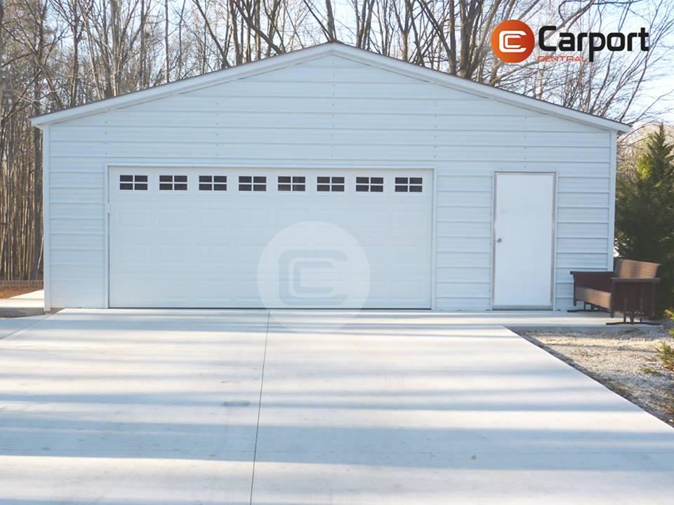 28×26 Vertical Roof Garage