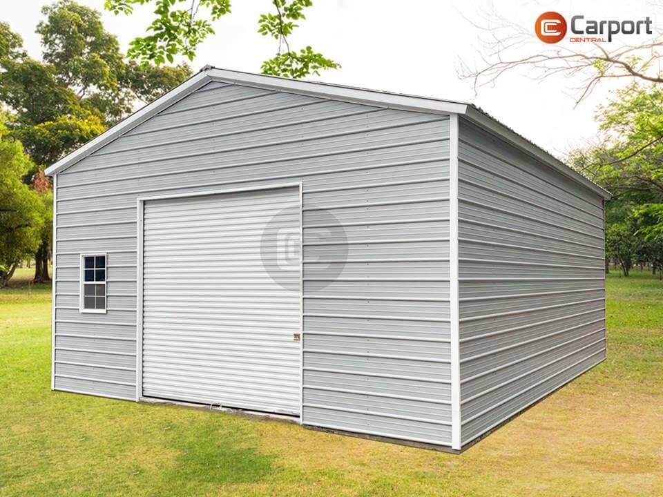 24x30 Prefab Garage Building - Sideview