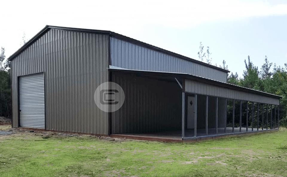 Garage En Carport : Lean to garage carport central