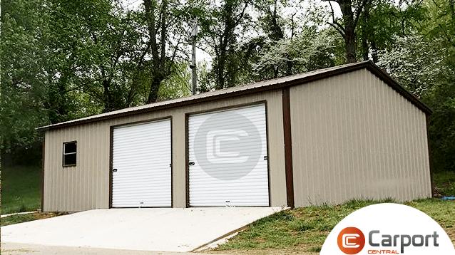 24x36 Prefab Side Entry Garage