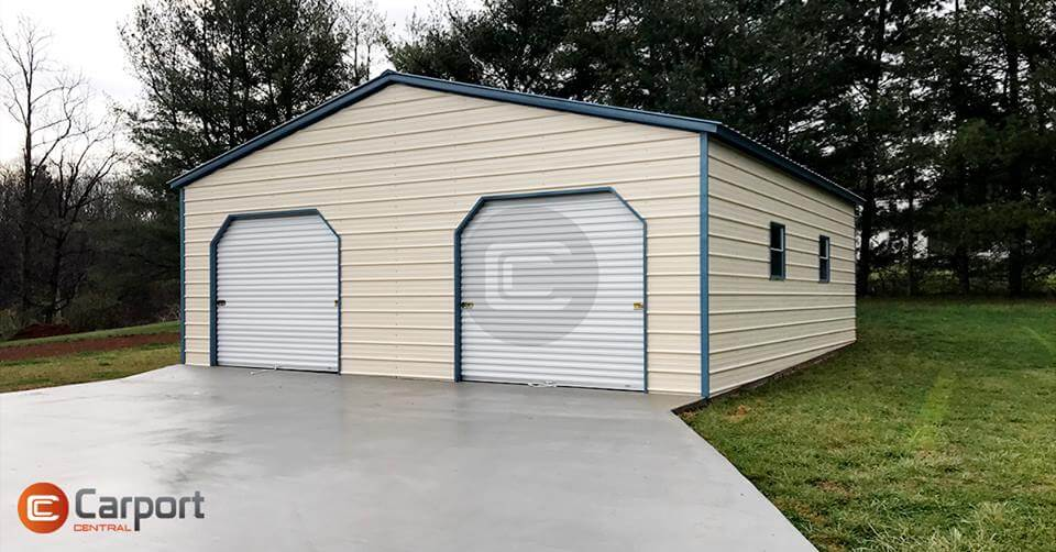30 x 30 Prefab Metal Building - Front View
