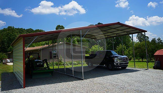 36x26 vertical carport