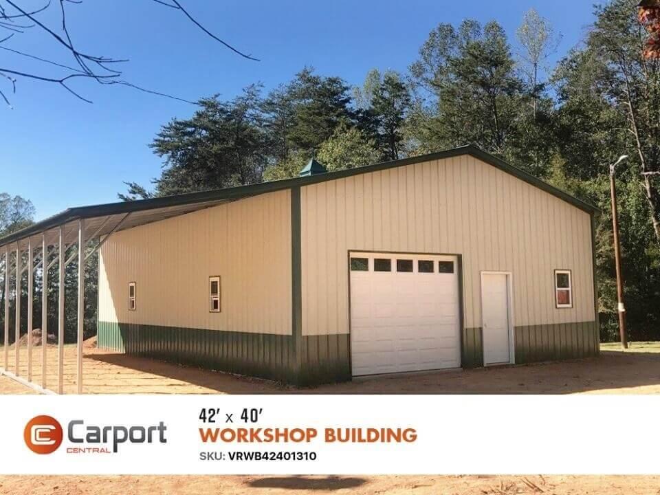 42x40 Lean-to Workshop