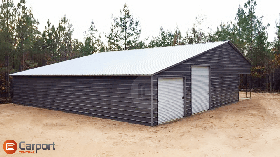 50x50 Roof Barn Building - Sideview