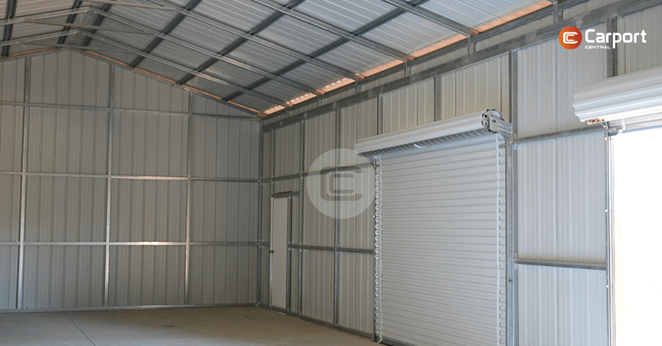24x60 Garage Building - Inside View