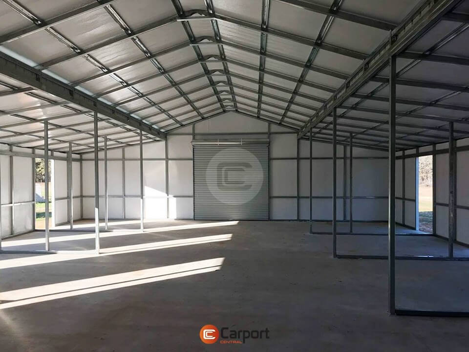 42x55 Fully Enclosed Metal Barn - Insideview 1