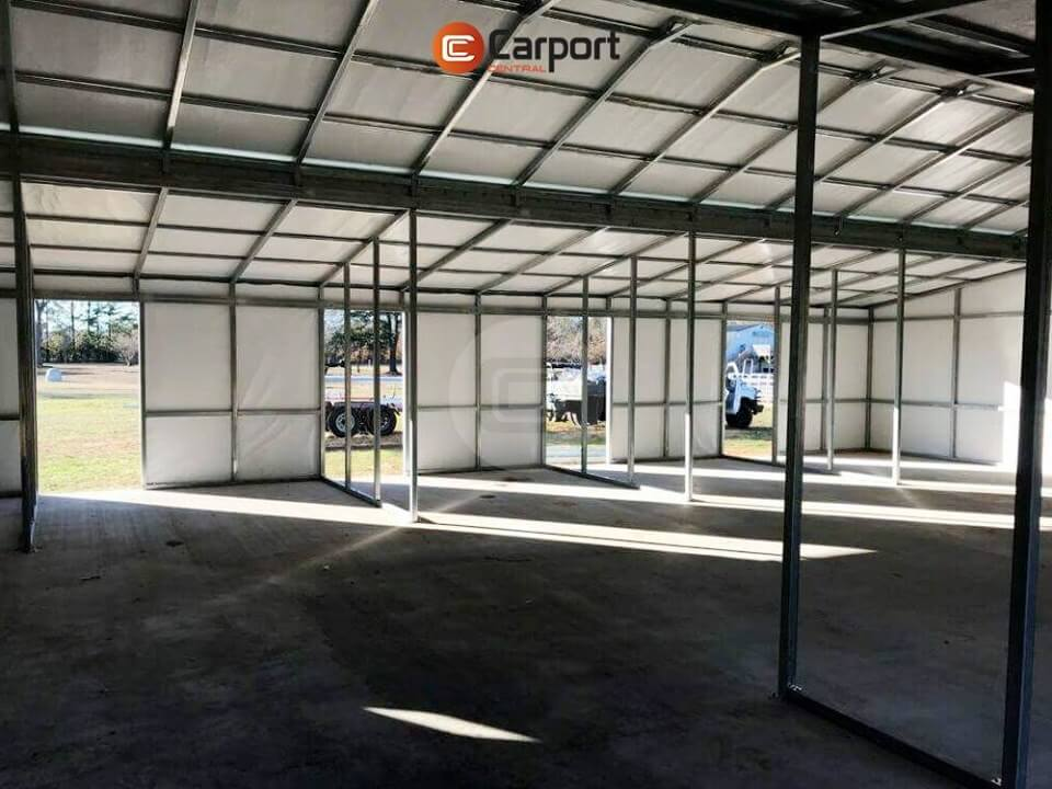 42x55 Fully Enclosed Metal Barn - Insideview 2