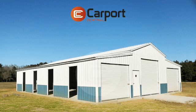 42x55 Fully Enclosed Metal Barn
