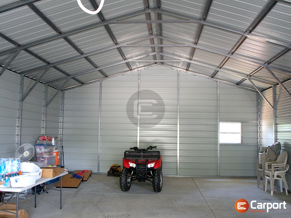 24 x 56 Utility Carport - Inside VIew