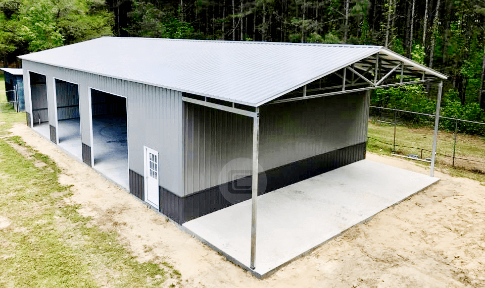 40 x 80 Vertical Roof Metal Garage