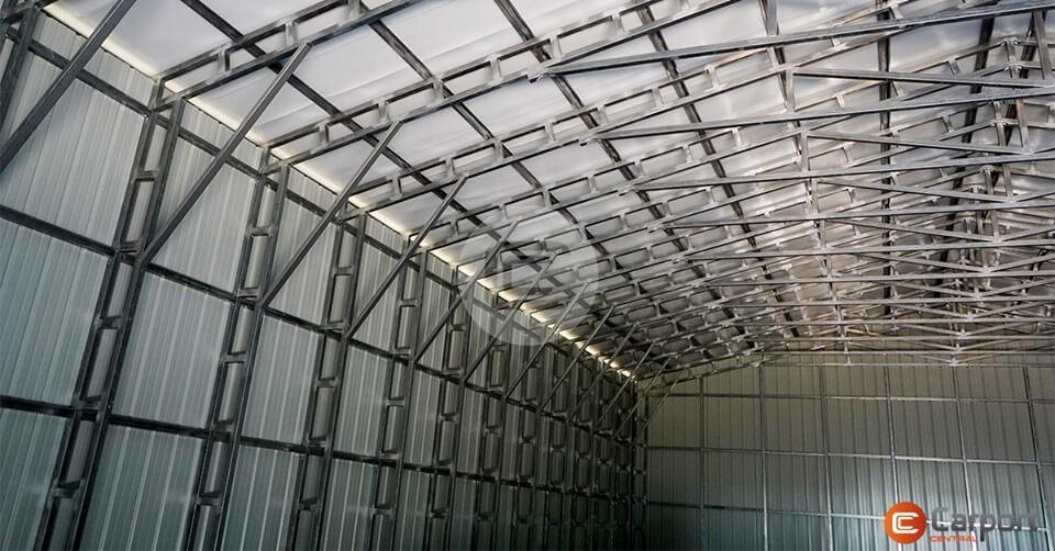 Inside View - 40 x 60 Vertical Metal Workshop