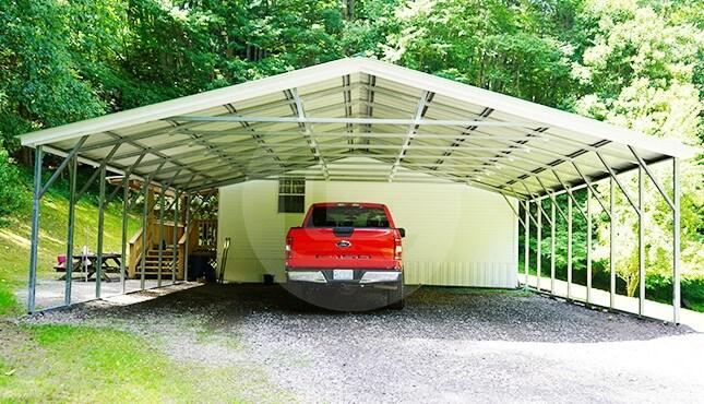 30x26 Vertical Roof Carport