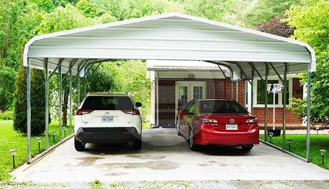 22x21 Regular Roof Carport