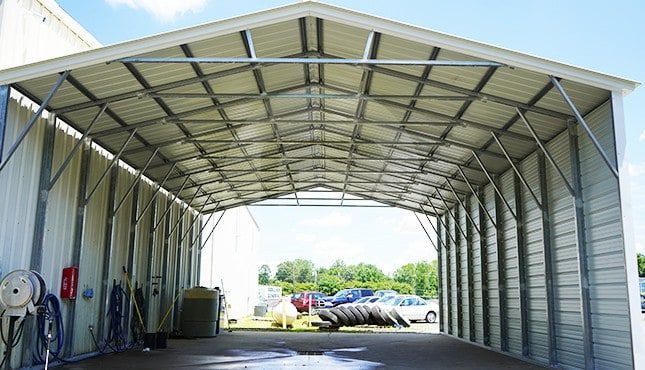 30x41 Vertical Roof Steel Carport