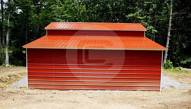 36x25 Drop-Down Steel Barn