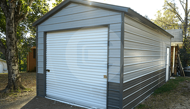 12x26 Vertical Roof Garage