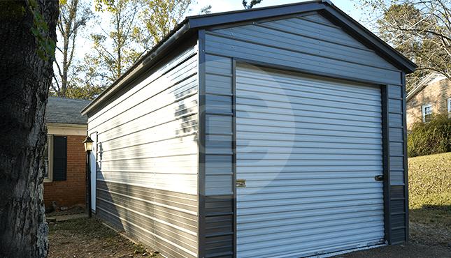 12x26 Vertical Roof Garage