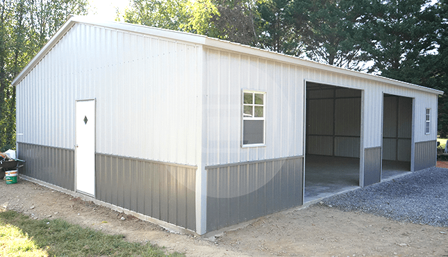 28×41 Side Entry Metal Garage
