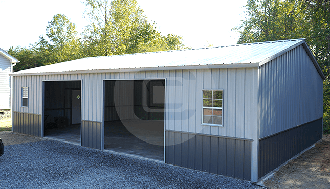 28x41 Side Entry Metal Garage
