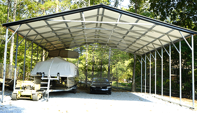 30x36 Vertical Roof Carport