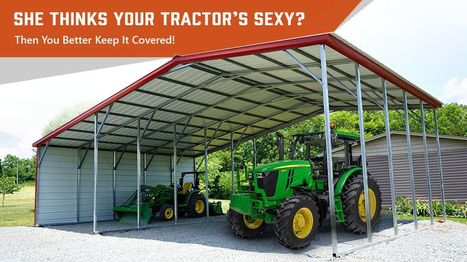She Thinks Your Tractor's Sexy? Then You Better Keep It Covered!