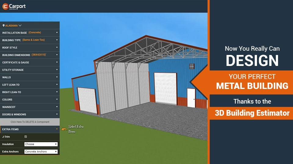 Now You Really CAN Design Your Perfect Metal Building Online, Thanks to the 3D Building Estimator