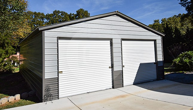 24x41 Vertical Roof Metal Garage