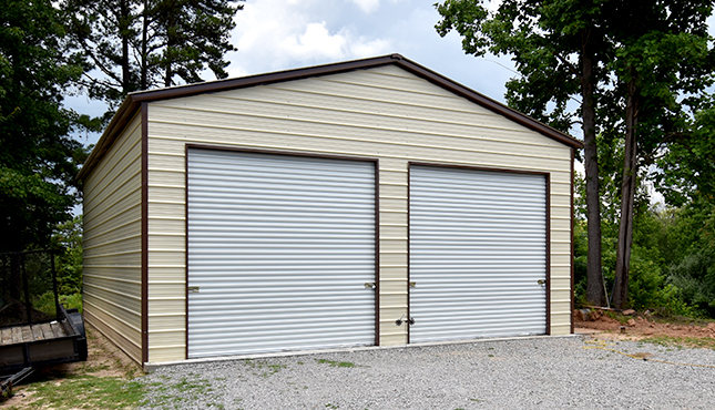 26x36 Vertical Roof Metal Garage