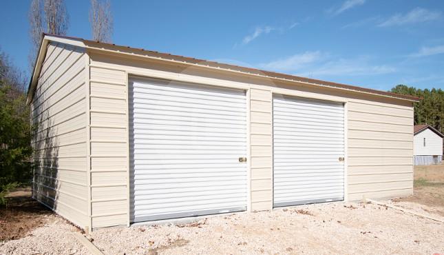 22×31x9 Vertical Roof Garage
