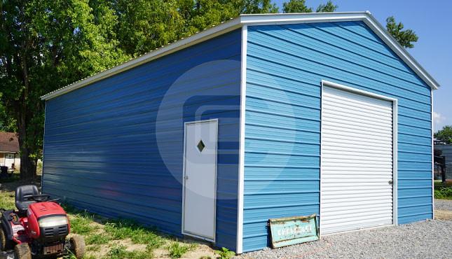 24x35x12 Vertical Roof Metal Garage