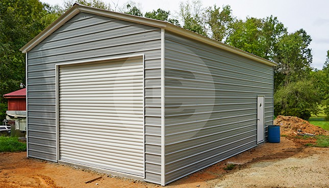 20×31 Vertical Roof Metal Garage