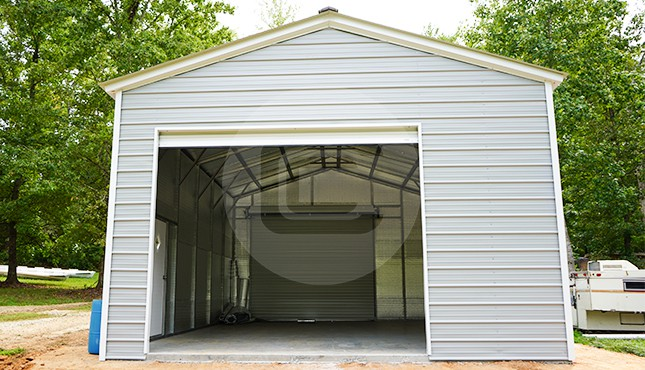 20x31 Vertical Roof Metal Garage
