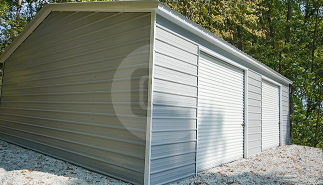 26x36 Two Car Steel Garage