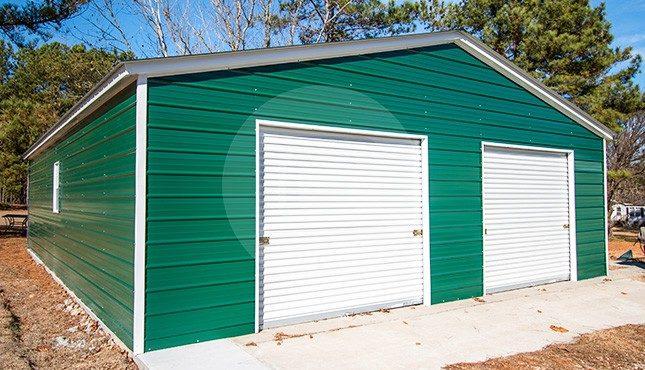 32x41 Double Car Metal Garage