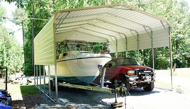 24x26 Regular Roof Boat Carport