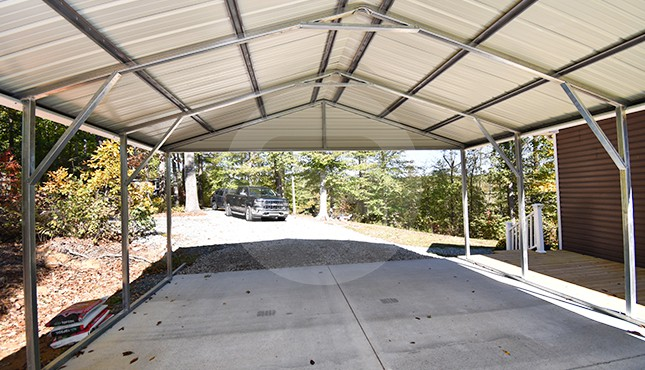 20×26 Vertical Roof Metal Carport