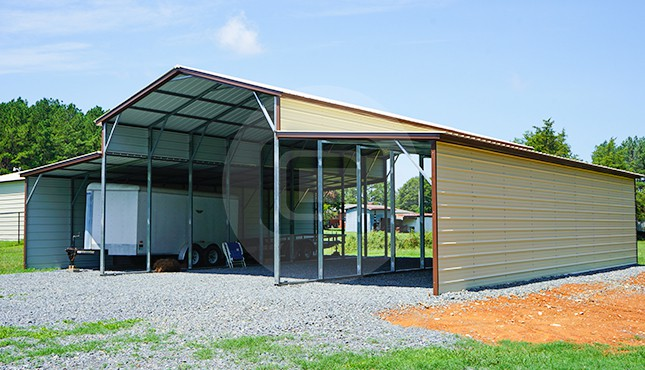 44×46 Vertical Roof Metal Barn