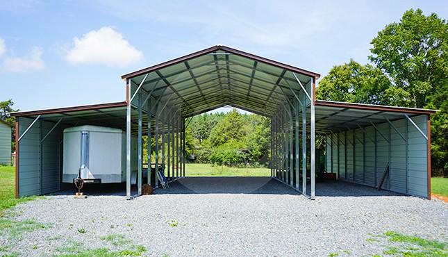44x46 Vertical Roof Metal Barn