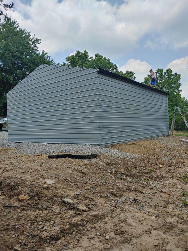 Metal Garage Installation