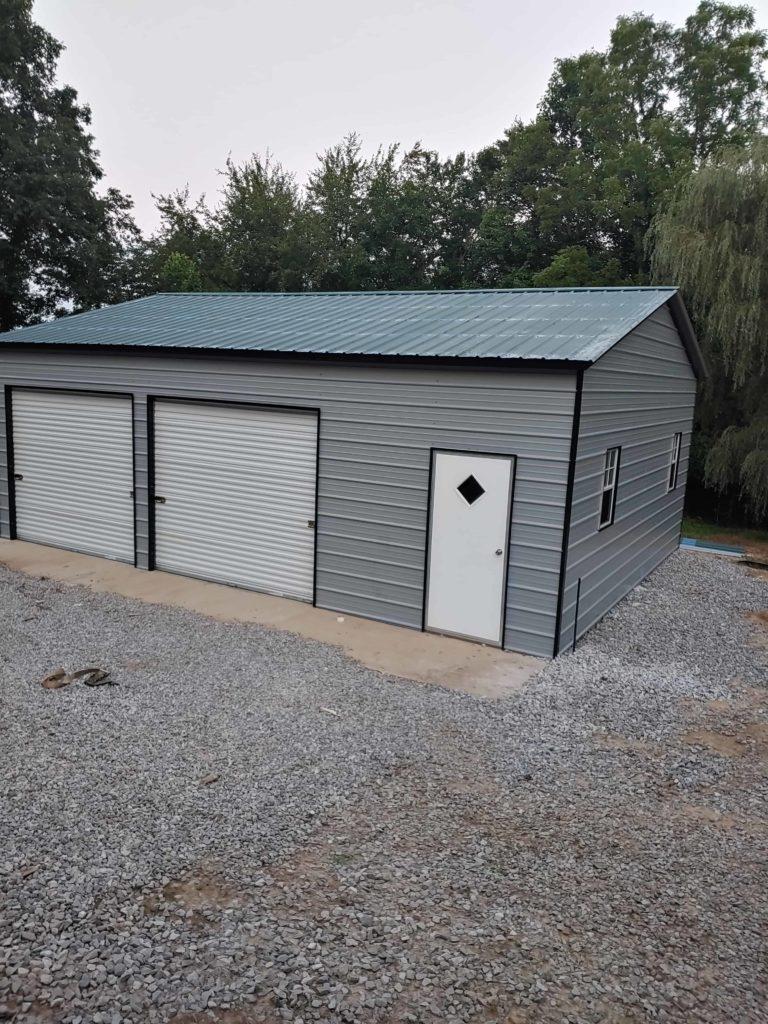 Steel Garage install