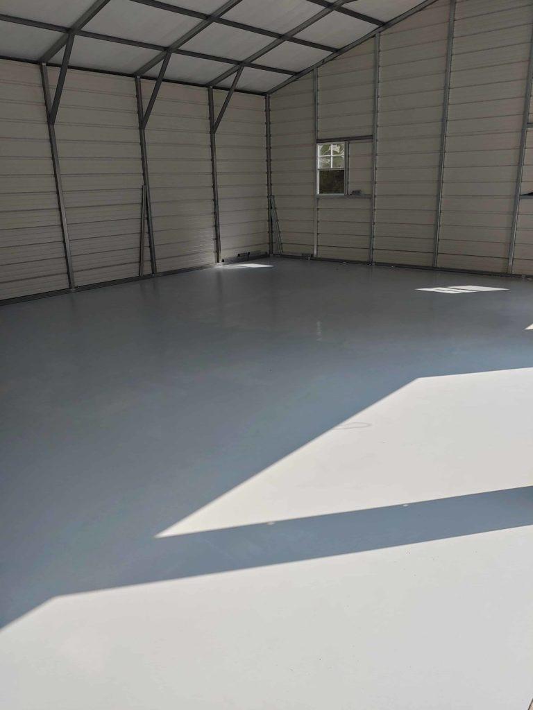 Steel Garage Inside view