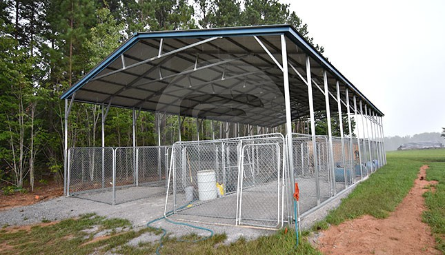 30x60 Metal Covered Shelter